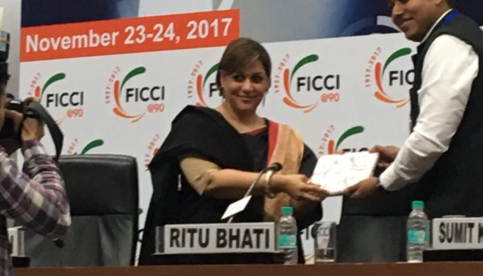 Puja Puja at the annual FICCI HR Innovation Conference 2017