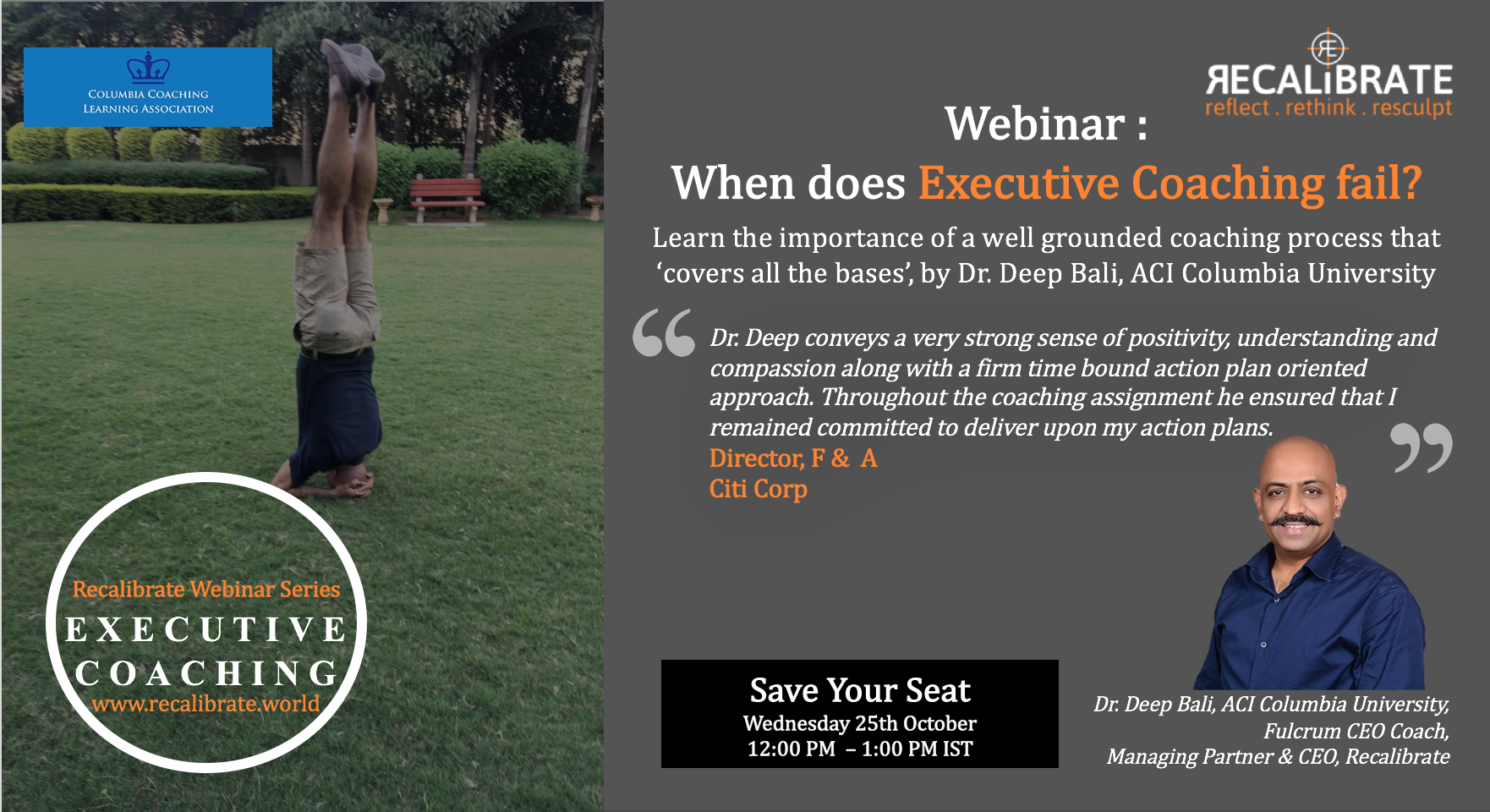 Webinar - When does Executive Coaching Fail